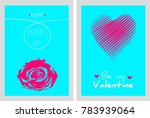 set of valentine's day card in... | Shutterstock .eps vector #783939064