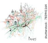 vector scenic city sketch  view ...   Shutterstock .eps vector #783941164