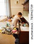 toddler throwing all her... | Shutterstock . vector #783942739