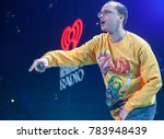 rapper logic performs at the...   Shutterstock . vector #783948439
