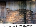 old red brick wall and wooden... | Shutterstock . vector #783948790