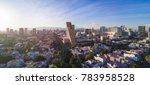 sunset at horacio avenue near... | Shutterstock . vector #783958528