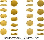 golden coins spin isolated on... | Shutterstock .eps vector #783966724