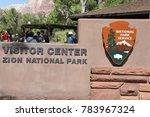 zion  ut   sep 2  zion national ... | Shutterstock . vector #783967324