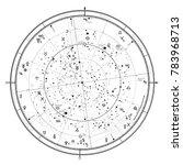 astrological celestial map of... | Shutterstock .eps vector #783968713