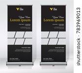 roll up banner design template  ... | Shutterstock .eps vector #783969013