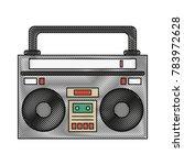 old radio stereo | Shutterstock .eps vector #783972628