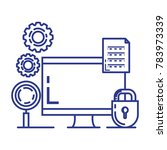 security system technology icons | Shutterstock .eps vector #783973339