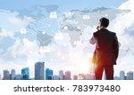 elegant businessman standing... | Shutterstock . vector #783973480