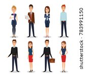 business people group avatars... | Shutterstock .eps vector #783991150