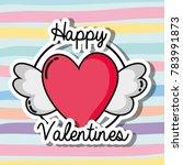 velentines day patches design... | Shutterstock .eps vector #783991873