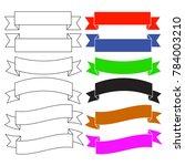 flat style banner ribbons.... | Shutterstock .eps vector #784003210