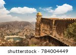 jaigarh fort rajasthan with... | Shutterstock . vector #784004449