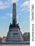 jose rizal monument in luneta... | Shutterstock . vector #784007380