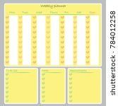 weekly planner organizer. notes ... | Shutterstock .eps vector #784012258