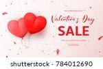 promo web banner for valentine...   Shutterstock .eps vector #784012690