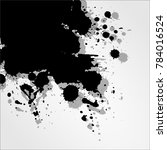 background with ink stains. ink ... | Shutterstock .eps vector #784016524
