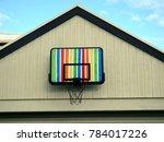 Rainbow Basketball Hoop On Top...