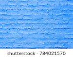 Abstract Blue Brick Wall Texture