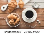white cup of coffee with... | Shutterstock . vector #784025920