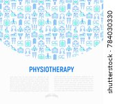 physiotherapy concept with thin ...   Shutterstock .eps vector #784030330
