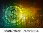 2d rendering dollar symbol  | Shutterstock . vector #784040716