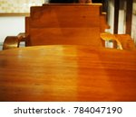 wooden table focus soft light | Shutterstock . vector #784047190