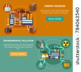 industry set horizontal banners ... | Shutterstock . vector #784063540