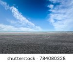 asphalt road and blue sky with... | Shutterstock . vector #784080328