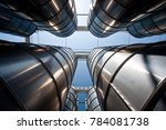 industrial silo tower  in...