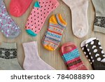 socks can be seen from above. a ... | Shutterstock . vector #784088890