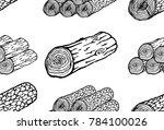 log seamless pattern. vector... | Shutterstock .eps vector #784100026