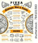 design template for pizzeria... | Shutterstock . vector #784101583