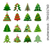 christmas tree in different... | Shutterstock . vector #784101760