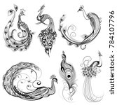 illustration of tattoo art... | Shutterstock .eps vector #784107796