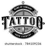 vintage tattoo lettering... | Shutterstock .eps vector #784109236