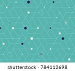 geometric grid with intricate... | Shutterstock .eps vector #784112698