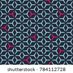 geometric grid with intricate... | Shutterstock .eps vector #784112728