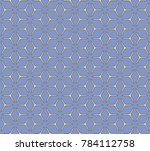 geometric grid with intricate... | Shutterstock .eps vector #784112758