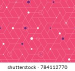geometric grid with intricate... | Shutterstock .eps vector #784112770