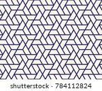 geometric grid with intricate... | Shutterstock .eps vector #784112824