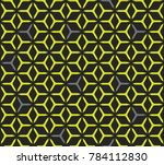 geometric grid with intricate... | Shutterstock .eps vector #784112830
