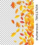 windy flying oak leaf abstract... | Shutterstock .eps vector #784117654