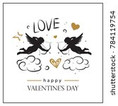 valentine's day card with... | Shutterstock .eps vector #784119754