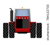 big red tractor on a white... | Shutterstock . vector #784122733