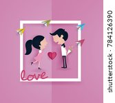 colorful valentine's day vector ... | Shutterstock .eps vector #784126390