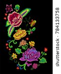 embroidery angular pattern with ... | Shutterstock .eps vector #784133758