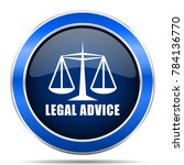 legal advice vector icon.... | Shutterstock .eps vector #784136770