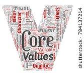 vector conceptual core values... | Shutterstock .eps vector #784137214