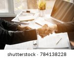 negotiations and business... | Shutterstock . vector #784138228